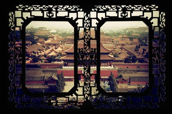 China 10MKm2 Collection - Asian Window - Forbidden City - Beijing-Philippe Hugonnard-Photographic Print
