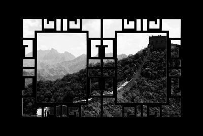 China 10MKm2 Collection - Asian Window - Great Wall of China-Philippe Hugonnard-Photographic Print