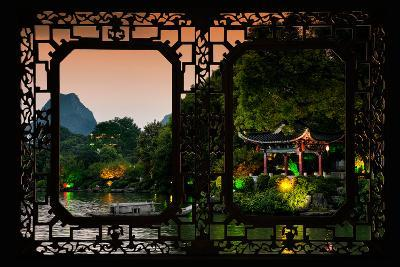 China 10MKm2 Collection - Asian Window - Guilin at night-Philippe Hugonnard-Photographic Print
