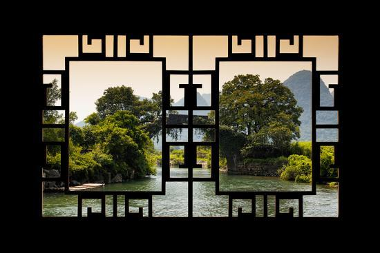 China 10MKm2 Collection - Asian Window - Guilin Yangshuo Bridge-Philippe Hugonnard-Photographic Print