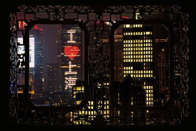 China 10MKm2 Collection - Asian Window - I Love Shanghai-Philippe Hugonnard-Photographic Print