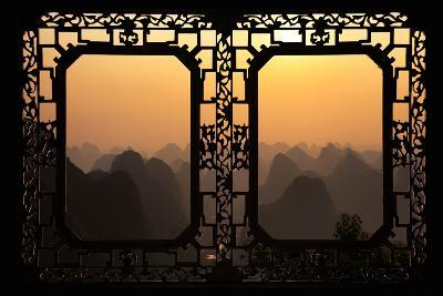 China 10MKm2 Collection - Asian Window - Karst Mountains at Sunset - Yangshuo-Philippe Hugonnard-Photographic Print