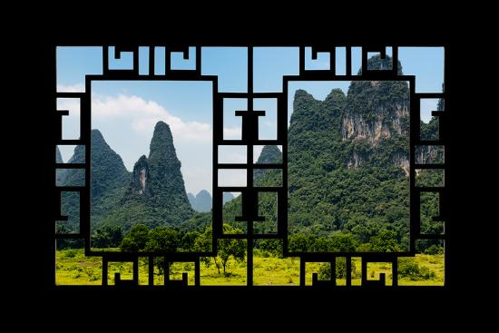 China 10MKm2 Collection - Asian Window - Karst Mountains-Philippe Hugonnard-Photographic Print