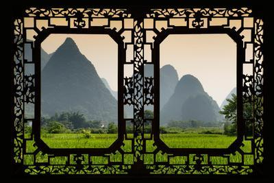 China 10MKm2 Collection - Asian Window - Karst Moutains in Yangshuo-Philippe Hugonnard-Photographic Print