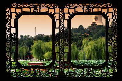 China 10MKm2 Collection - Asian Window - Lotus Flowers - Beihai Park-Philippe Hugonnard-Photographic Print