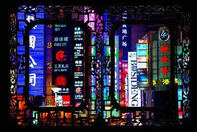 China 10MKm2 Collection - Asian Window - Neon Signs in Nanjing Lu - Shanghai-Philippe Hugonnard-Photographic Print