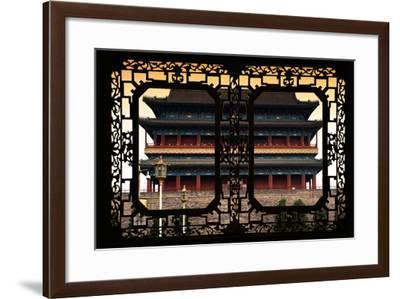 China 10MKm2 Collection - Asian Window - Qianmen Beijing-Philippe Hugonnard-Framed Photographic Print
