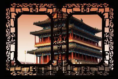China 10MKm2 Collection - Asian Window - Qianmen Beijing-Philippe Hugonnard-Photographic Print