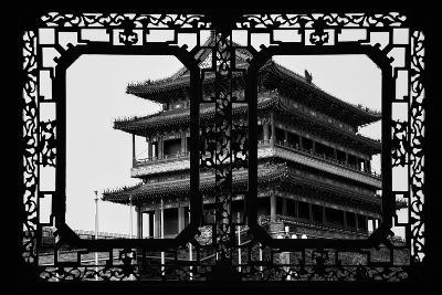 China 10MKm2 Collection - Asian Window - Qianmen Temple - Beijing-Philippe Hugonnard-Photographic Print