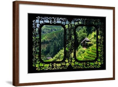 China 10MKm2 Collection - Asian Window - Rice Terraces - Longsheng Ping'an - Guangxi-Philippe Hugonnard-Framed Photographic Print