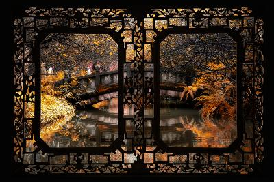 China 10MKm2 Collection - Asian Window - Romantic Bridge in Autumn-Philippe Hugonnard-Photographic Print