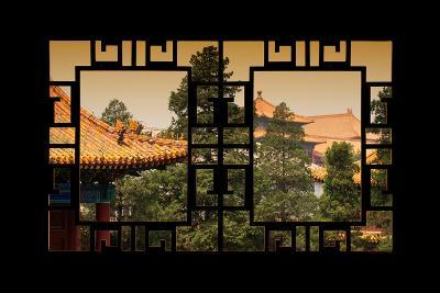 China 10MKm2 Collection - Asian Window - Roofs of Forbidden City at Sunset - Beijing-Philippe Hugonnard-Photographic Print