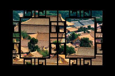 China 10MKm2 Collection - Asian Window - Roofs of Forbidden City - Beijing-Philippe Hugonnard-Photographic Print