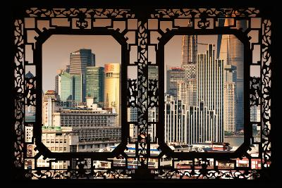 China 10MKm2 Collection - Asian Window - Shanghai Cityscape-Philippe Hugonnard-Photographic Print
