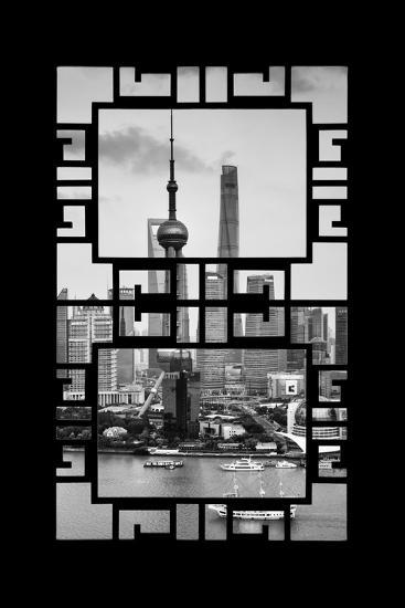 China 10MKm2 Collection - Asian Window - Shanghai Tower-Philippe Hugonnard-Photographic Print