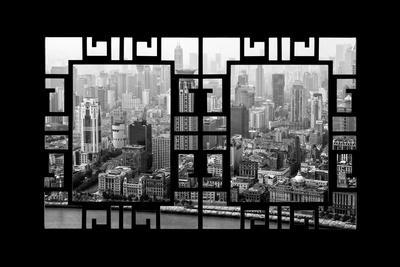 China 10MKm2 Collection - Asian Window - Shanghai View-Philippe Hugonnard-Photographic Print