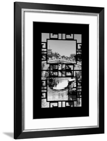 China 10MKm2 Collection - Asian Window - Shanghai Water Town - Qibao-Philippe Hugonnard-Framed Photographic Print