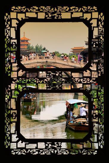 China 10MKm2 Collection - Asian Window - Shanghai Water Town - Qibao-Philippe Hugonnard-Photographic Print