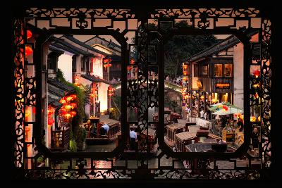 China 10MKm2 Collection - Asian Window - Shantang water Town - Suzhou-Philippe Hugonnard-Photographic Print