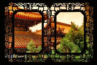 China 10MKm2 Collection - Asian Window - Summer Palace Architecture at Sunset-Philippe Hugonnard-Photographic Print