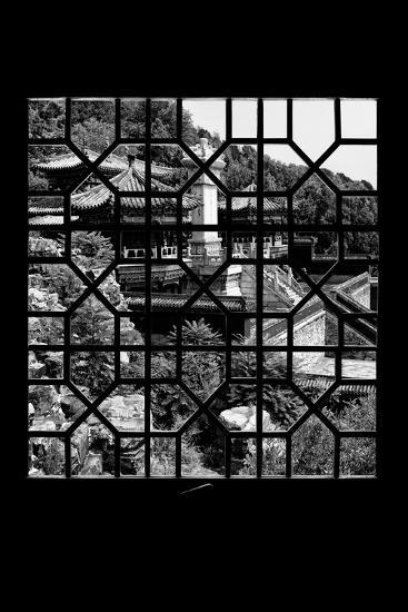 China 10MKm2 Collection - Asian Window - Summer Palace Architecture-Philippe Hugonnard-Photographic Print