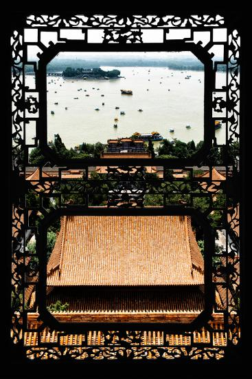 China 10MKm2 Collection - Asian Window - Summer Palace Beijing-Philippe Hugonnard-Photographic Print