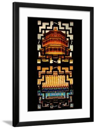 China 10MKm2 Collection - Asian Window - Summer Palace Temple at Sunset-Philippe Hugonnard-Framed Photographic Print