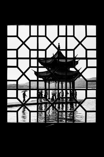 China 10MKm2 Collection - Asian Window - Temple Lake-Philippe Hugonnard-Photographic Print
