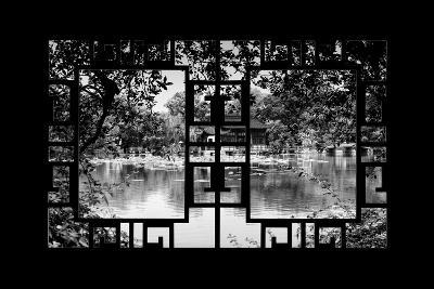 China 10MKm2 Collection - Asian Window - Temple Reflections-Philippe Hugonnard-Photographic Print