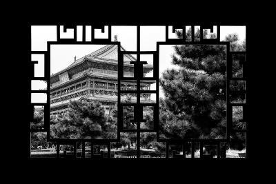 China 10MKm2 Collection - Asian Window - Temple Xi'an-Philippe Hugonnard-Photographic Print
