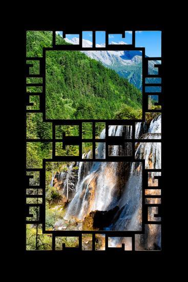China 10MKm2 Collection - Asian Window - Waterfalls in the Jiuzhaigou National Park-Philippe Hugonnard-Photographic Print