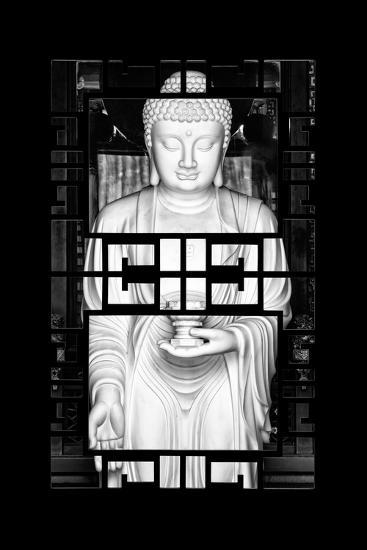 China 10MKm2 Collection - Asian Window - White Buddha-Philippe Hugonnard-Photographic Print