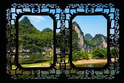 China 10MKm2 Collection - Asian Window - Yangshuo Li River-Philippe Hugonnard-Photographic Print