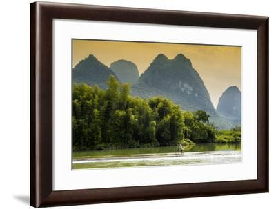 China 10MKm2 Collection - Beautiful Scenery of Yangshuo at sunset-Philippe Hugonnard-Framed Photographic Print