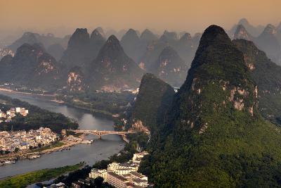 China 10MKm2 Collection - Beautiful Scenery of Yangshuo at sunset-Philippe Hugonnard-Photographic Print