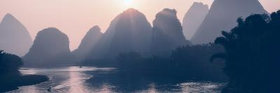 China 10MKm2 Collection - Beautiful Scenery of Yangshuo with Karst Mountains at Pastel Sunrise-Philippe Hugonnard-Photographic Print