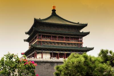 China 10MKm2 Collection - Bell Tower 14th Century-Philippe Hugonnard-Photographic Print