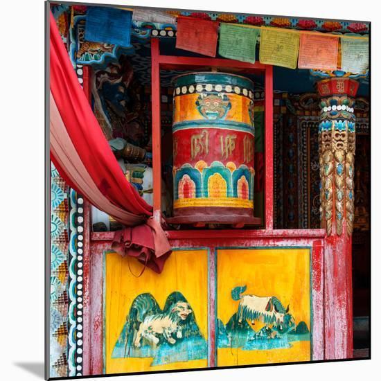 China 10MKm2 Collection - Buddhist Prayer Wheel-Philippe Hugonnard-Mounted Premium Photographic Print