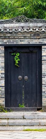 China 10MKm2 Collection - Buddhist Temple Door-Philippe Hugonnard-Photographic Print