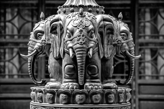 China 10MKm2 Collection - Buddhist Temple - Elephant Statue-Philippe Hugonnard-Photographic Print