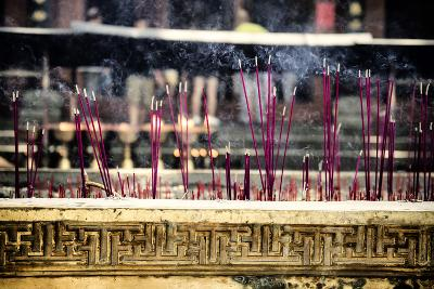 China 10MKm2 Collection - Buddhist Temple with Incense Burning-Philippe Hugonnard-Photographic Print