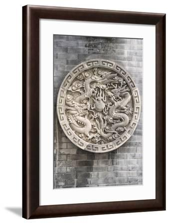 China 10MKm2 Collection - Chinese ancient Sculpture Dragons-Philippe Hugonnard-Framed Photographic Print