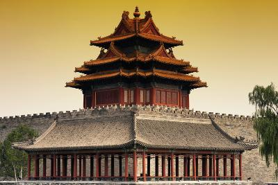 China 10MKm2 Collection - Chinese Architecture at Sunset - Forbidden City - Beijing-Philippe Hugonnard-Photographic Print