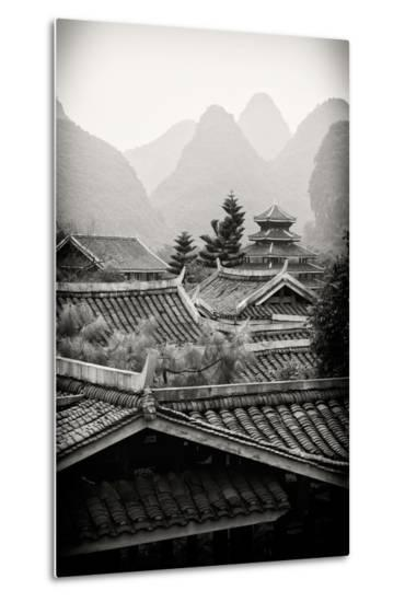 China 10MKm2 Collection - Chinese Buddhist Temple with Karst Mountains-Philippe Hugonnard-Metal Print