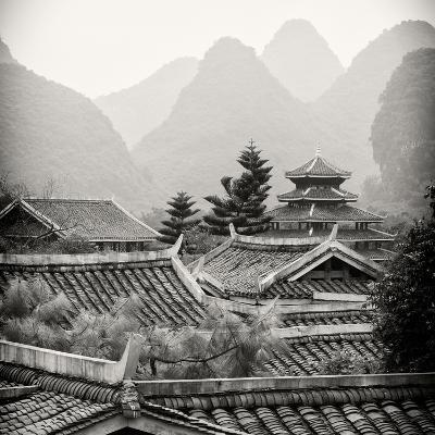 China 10MKm2 Collection - Chinese Buddhist Temple with Karst Mountains-Philippe Hugonnard-Photographic Print