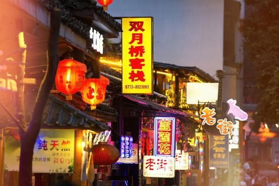China 10MKm2 Collection - Chinese Signs Night-Philippe Hugonnard-Photographic Print