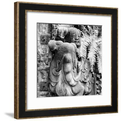 China 10MKm2 Collection - Chinese Statue-Philippe Hugonnard-Framed Photographic Print