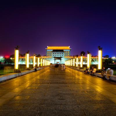 China 10MKm2 Collection - City Lights - Xi'an City-Philippe Hugonnard-Photographic Print