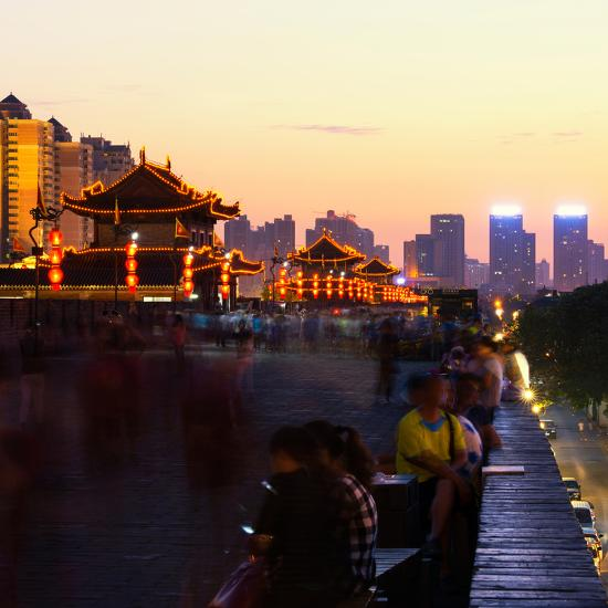 China 10MKm2 Collection - City Night Xi'an-Philippe Hugonnard-Photographic Print
