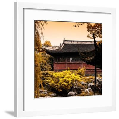 China 10MKm2 Collection - Classical Chinese Pavilion in Autumn-Philippe Hugonnard-Framed Photographic Print